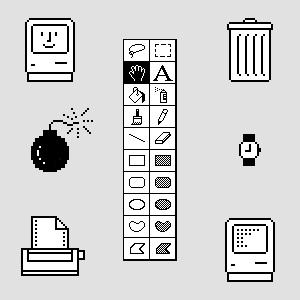 Susan Kare Mac Icons